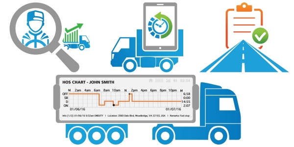 ELD Truck Device Graphic for What is ELD and what is the ELD Rule page.