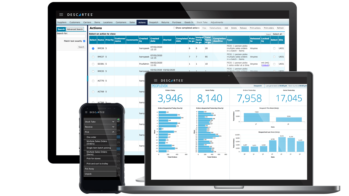 Descartes premiere ecommerce software solution offers intuitive, dashboard-driven warehouse management