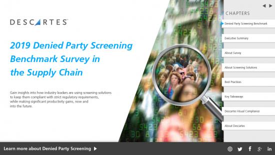 wp denied party screening benchmark survey supply chain 2019