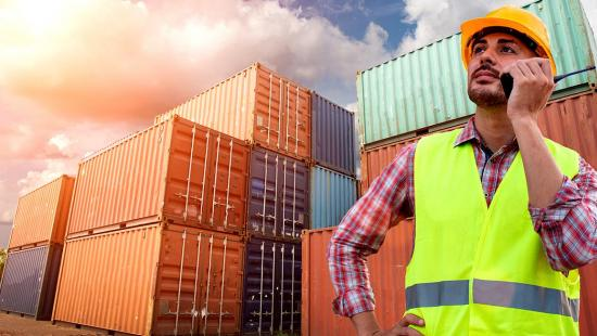 image - port worker with containers