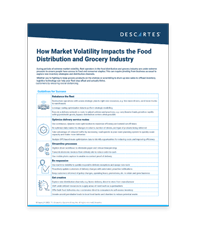 Market Volatility for Food Distribution infographic