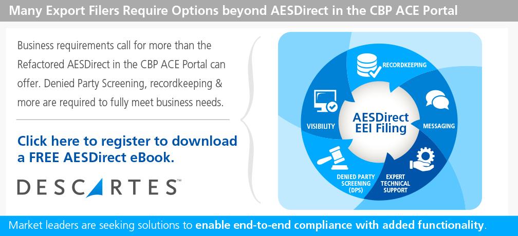 AESDirect EEI Filing | Descartes