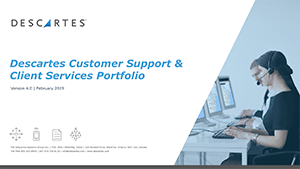 [PDF] Descartes Customer Support & Client Services Portfolio