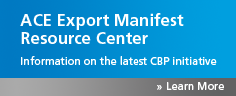 Information on the upcoming U.S. ACE export manifest initiative